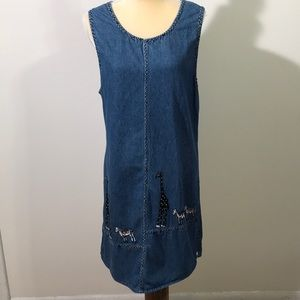 New Directions Cotton Zebra Jean Dress